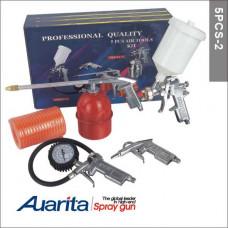 AUARITA - Набір фарбувальних пістолетів 5PCS-2