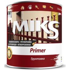 Грунт протикорозійний червоно-коричневий Miks 0,9кг