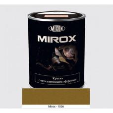 Фарба з металевим ефектом Mixon Mirox - світло-золота RAL 1036 0,75л