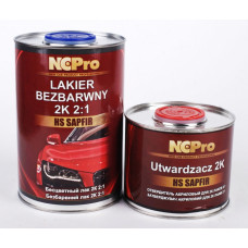 NCPro - Лак акриловий SAPFIR HS 2:1 1л лака + затверджувач 0,5л