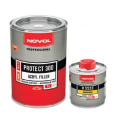 NOVOL - PROTECT 300 акриловий грунт 4+1 сірий 1л + затверджувач 0,25л