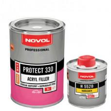 NOVOL - PROTECT 330 акриловий грунт 5+1 сірий 1л + затверджувач 0,2л