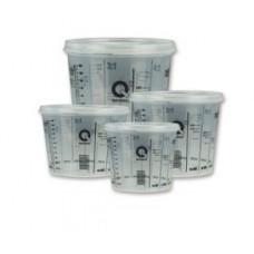 Q Refinish - Мірний стакан з кришкою для змішування 0,385л